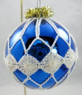 blue crocheted